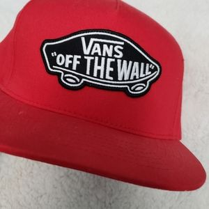 Van's Off the Wall Red Snapback